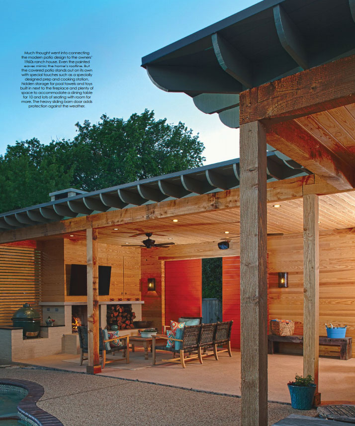 Outdoor living home remodel